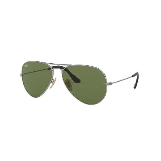 f8485ea5c Óculos de Sol Ray-Ban RB3025 Aviator Large Metal - Cinza - Compre ...