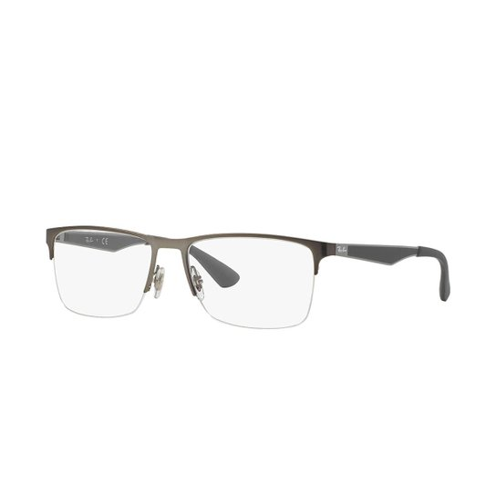 d1ddb470af857 Armação de Óculos Ray-Ban RB6335 - Cinza - Compre Agora   Zattini