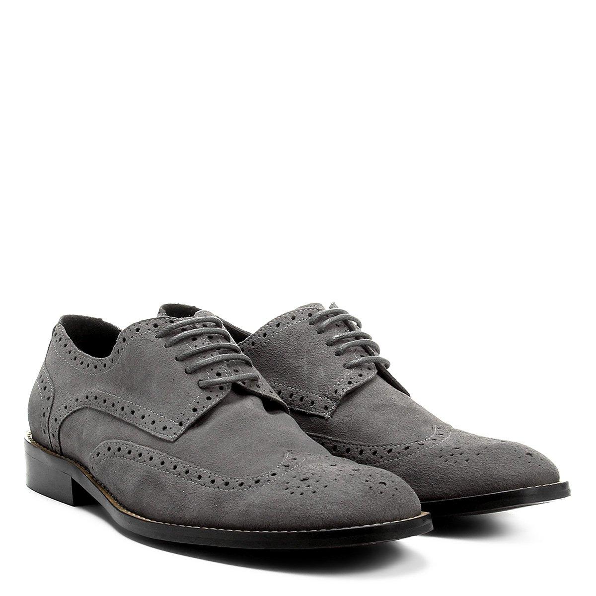 d0d6b4782 Oxford Couro Shoestock Brogue Masculino