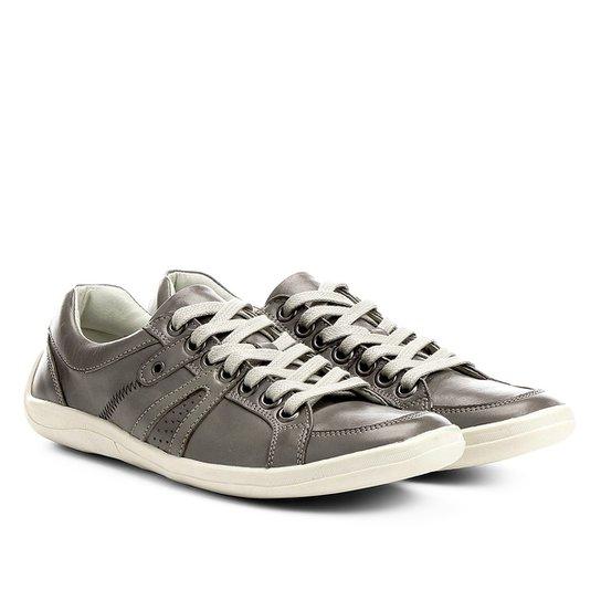 e6ad010954 Sapatênis Couro Shoestock Ilhós Masculino - Cinza - Compre Agora ...