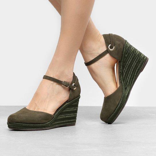 b40a99543 Sandália Anabela Shoestock Trança - Compre Agora