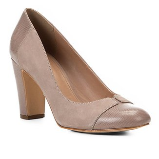 0f58330f34 Scarpin Couro Shoestock Salto Alto Mix Croco