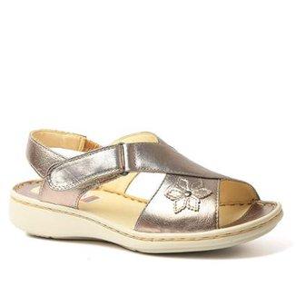 ba9d0933f7 Sandália Couro 293 Metalic Doctor Shoes Feminina