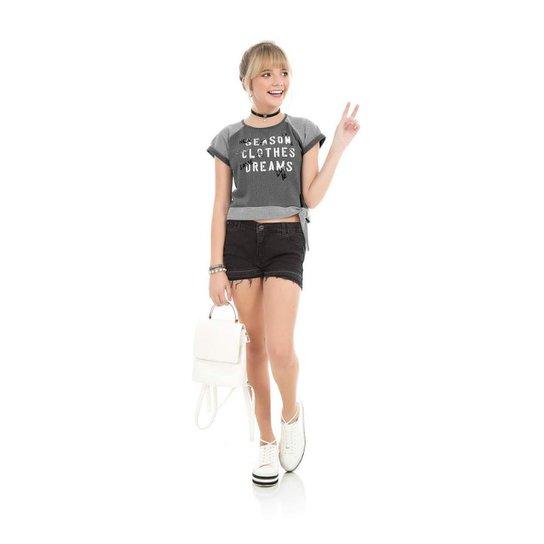 Blusa Infantil Rovitex Feminina - Cinza - Compre Agora  5e54cf220d4
