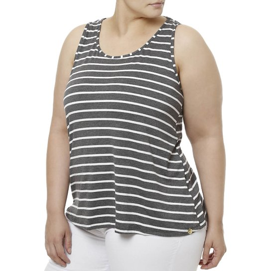 3a6d8c11876 Blusa Regata Plus Size Feminina - Compre Agora