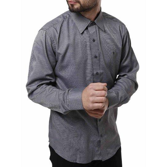 Camisa Manga Longa Bivik Masculina - Cinza - Compre Agora  d621eacfa90