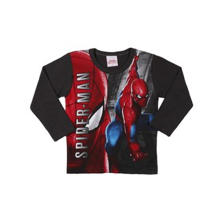 233044f3a49bc Camiseta Manga Longa Spider Man