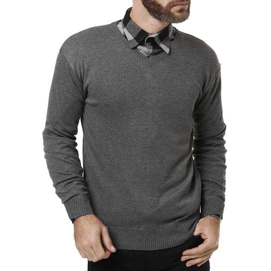 Suéter Masculino Cinza - Compre Agora   Zattini 1d020b4577