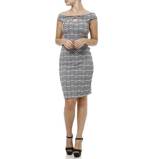 7f5d8be46a Vestido Curto Feminino - Cinza - Compre Agora