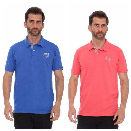 ba1e871ffa Kit 2 Pçs Camisa Polo Santa Fé Casual Masculino - Compre Agora