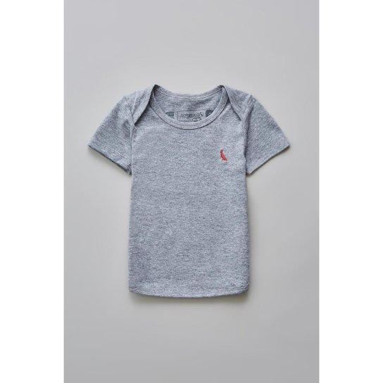67f2cef434 Camiseta Masculina Infantil Bb Mc Basico Reserva Mini - Cinza ...