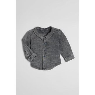 d2fe4e2e583 Camisa Bebê Listra Lavado Malha Reserva Mini Masculina