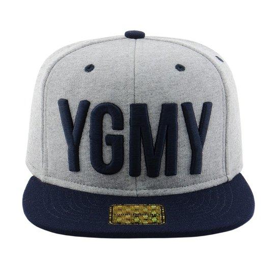 Boné Aba Reta Young Money Snapback YMGY Moleton - Cinza - Compre ... 4dea1025ddc