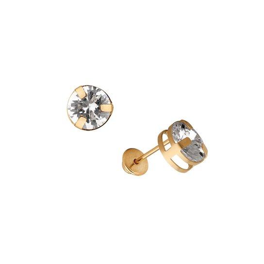 Brinco Ponto de Luz em Ouro 18k Grande - Ouro - Compre Agora   Zattini 1c51a7c95f