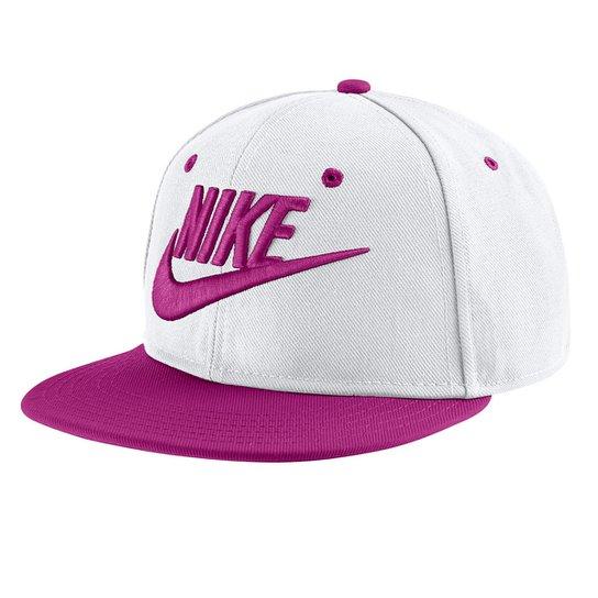 69d356d2cdb2a Boné Infantil Nike Aba Reta Futura Truel - Off white e Rosa - Compre ...