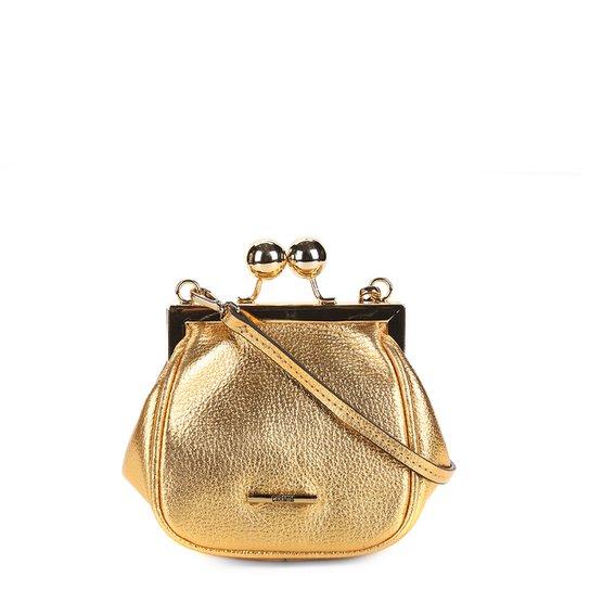 b46503637 Bolsa Couro Carmim Transversal Feminina - Ouro - Compre Agora | Zattini