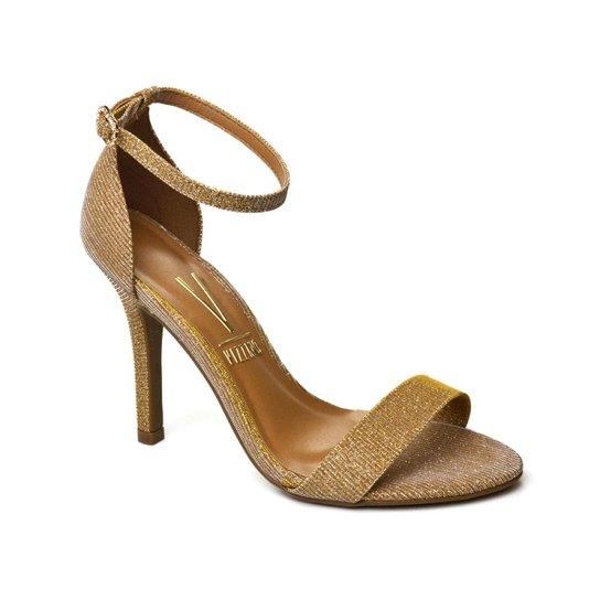 88795f733e Sandália Dourada Vizzano - Ouro