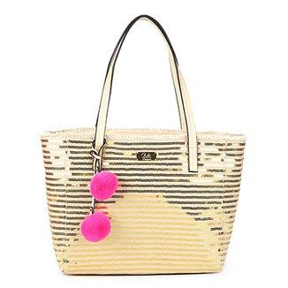 49033aff5 Bolsa WJ Tote - Shopper Lantejoulas e Pompom Feminina