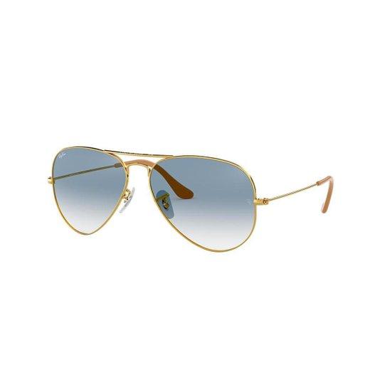 a61a0e9e4 Óculos de Sol Ray-Ban RB3025L Aviator Gradiente - Ouro | Zattini