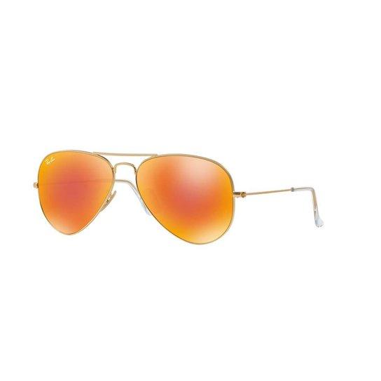 4feac997860b1 Óculos de Sol Ray-Ban RB3025L Aviator Lentes Espelhadas - Ouro ...