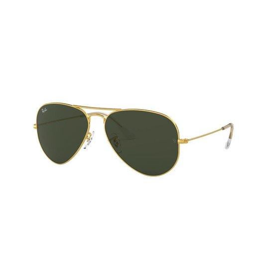 9aa4ac2349848 Óculos de Sol Ray-Ban RB3025 Aviator Clássico - Ouro - Compre Agora ...
