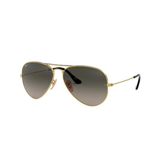e5c11c107 Óculos de Sol Ray-Ban Aviator Rb3025L Masculino - Ouro | Zattini