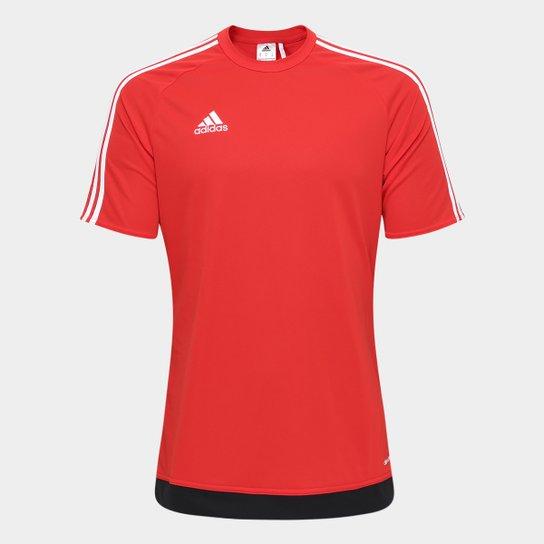 999a3ee9021 Camisa Adidas Estro 15 Masculina - Vermelho e Preto - Compre Agora ...