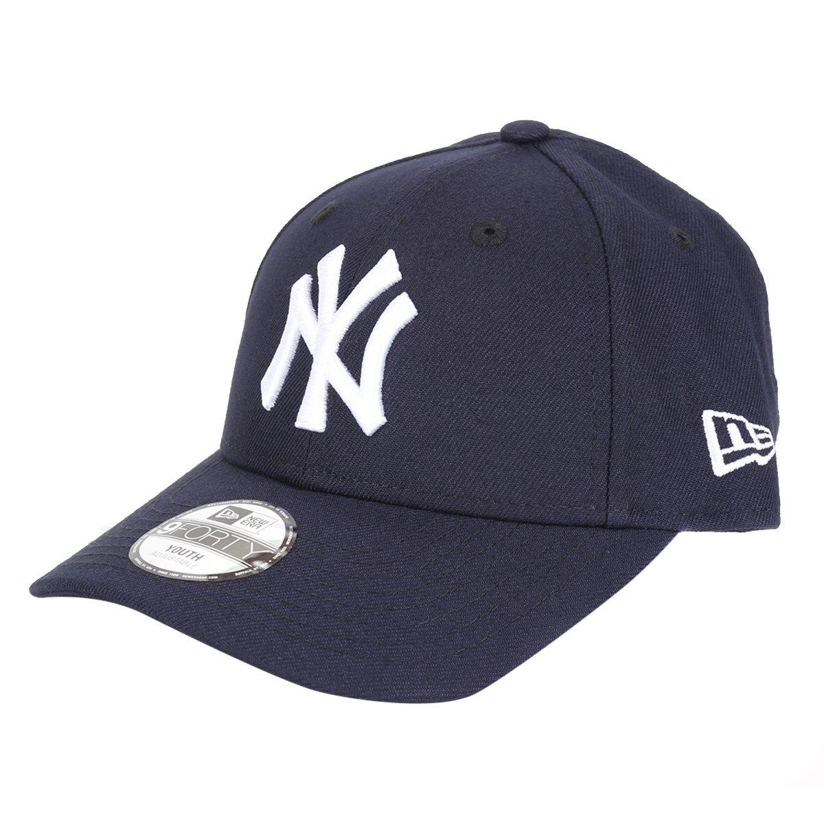 Boné Infantil New Era MBL New York Yankees Aba Curva Strapback 9Forty