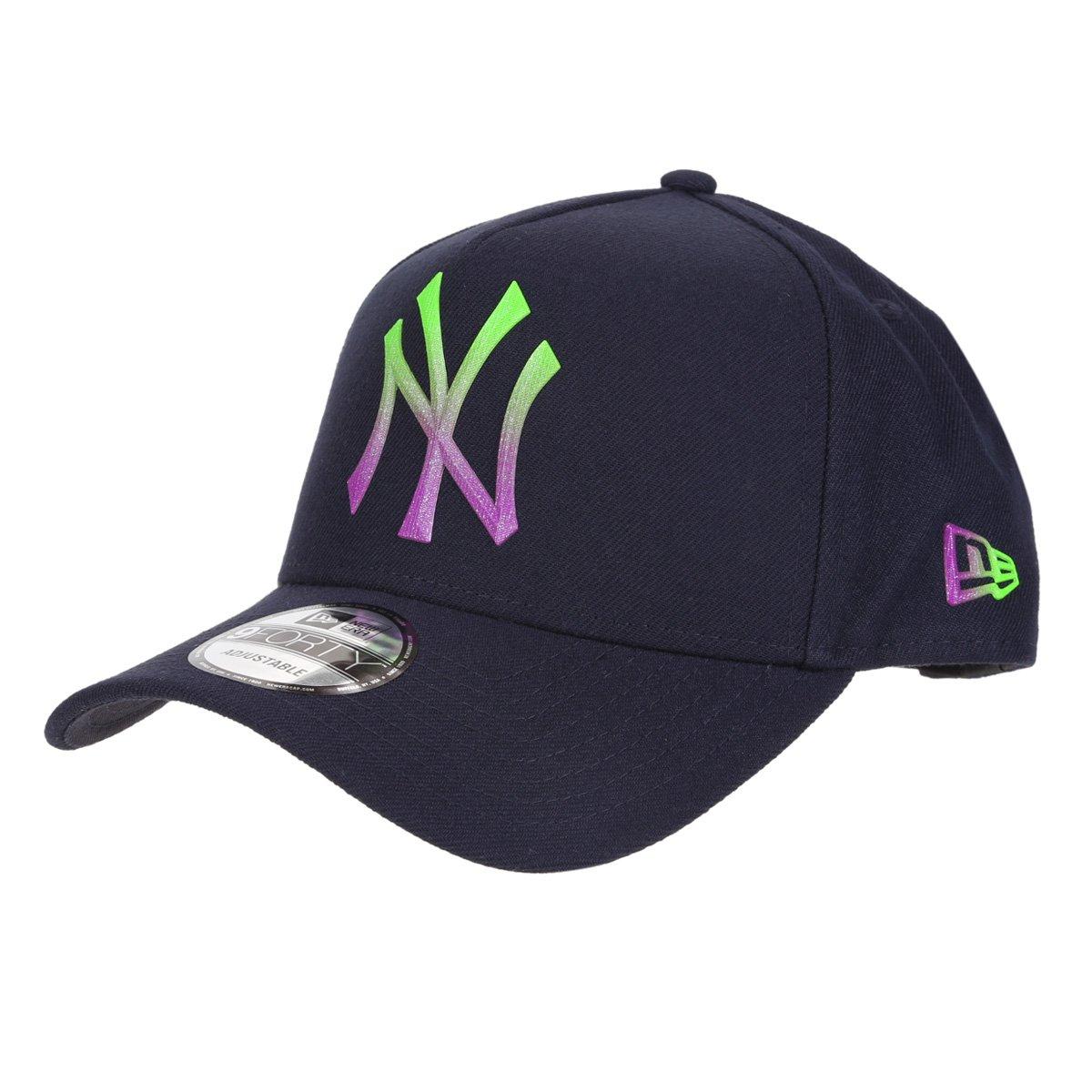 Boné New Era MLB New York Yankees Aba Curva Snapback  A-Frame Rave Space Gradiente 9Forty