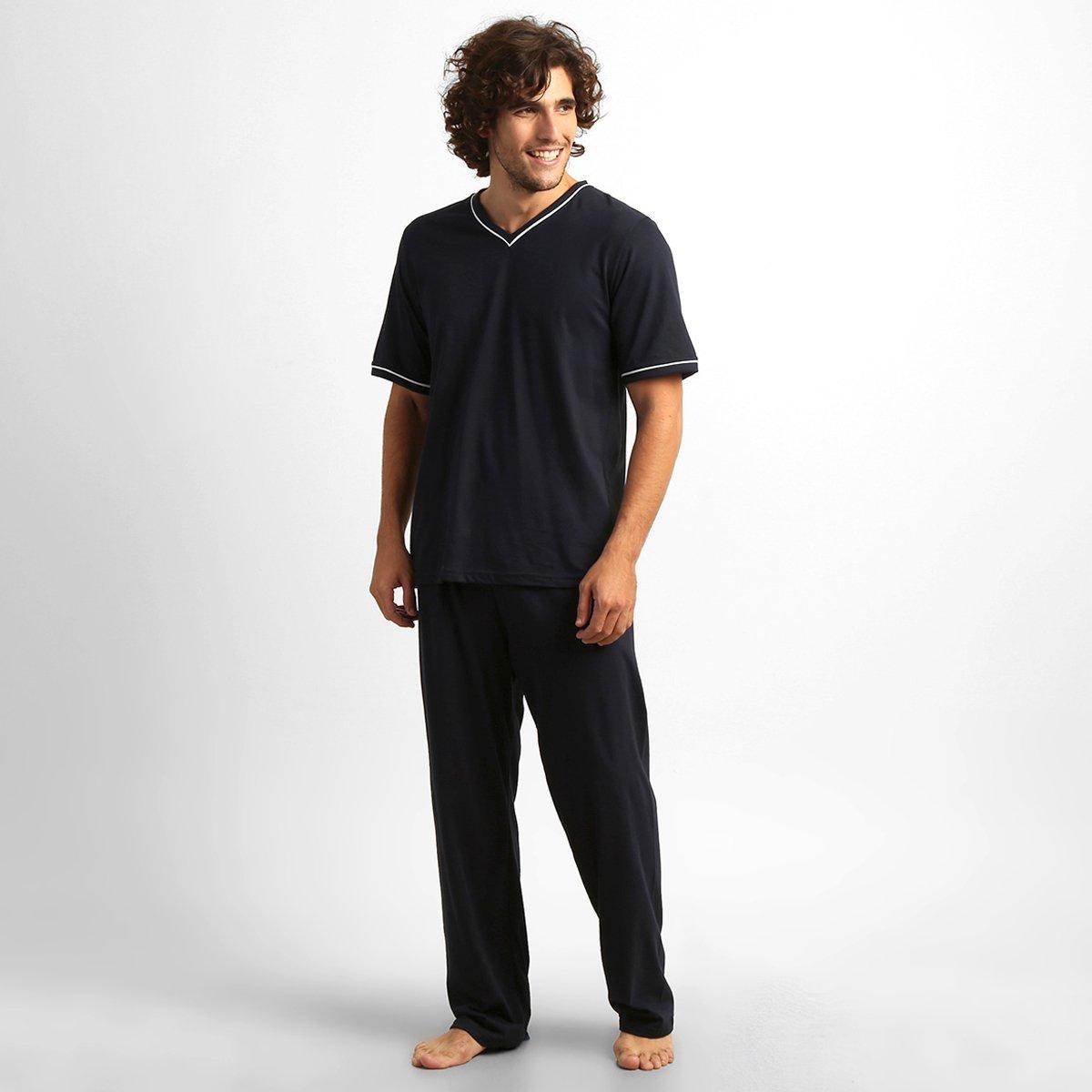 Pijama Lupo Gola V Longo Masculino