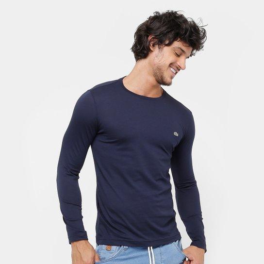 Camiseta Lacoste Jersey Manga Longa Masculina - Compre Agora   Zattini 3d9cfaf5b0
