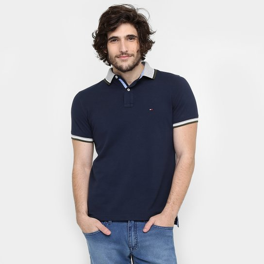 Camisa Polo Tommy Hilfiger Piquet Slim Fit Frisos - Compre Agora ... fb39c7b22452b