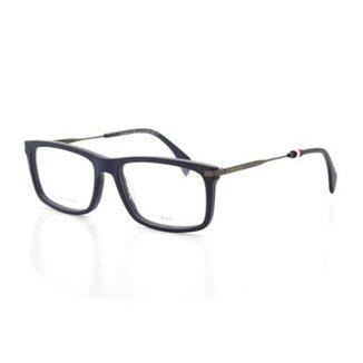 Armação De Óculos De Grau Tommy Hilfiger 1538 T 55 C Fll Marinho e76d91c3f9