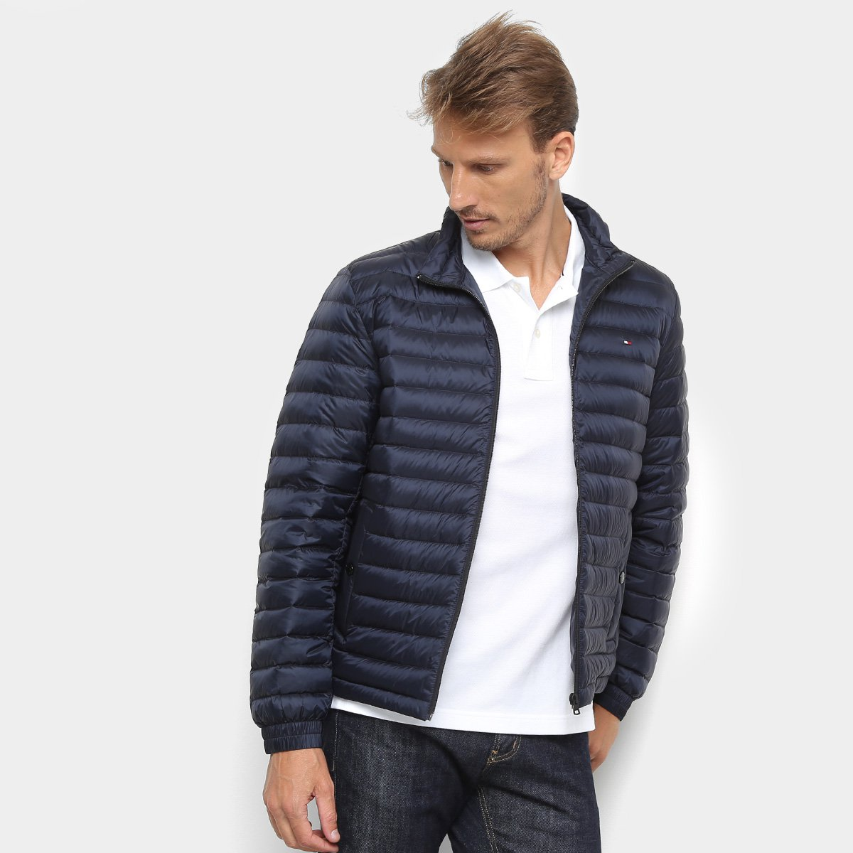 1456ac493 Jaqueta Tommy Hilfiger Core LW Packable Down Bomber Masculina
