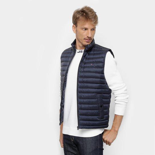 5fec2df5aa9 Colete Puffer Tommy Hilfiger Matelassê Core Packable Down Vest Masculina -  Marinho