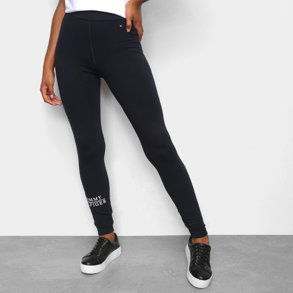 Calça Legging Tommy Hilfiger Logo Feminina