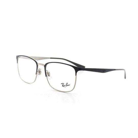 438ad1707dd12 Armação De Óculos De Grau Ray Ban 6421 T 54 C 3004 Marinho - Compre ...