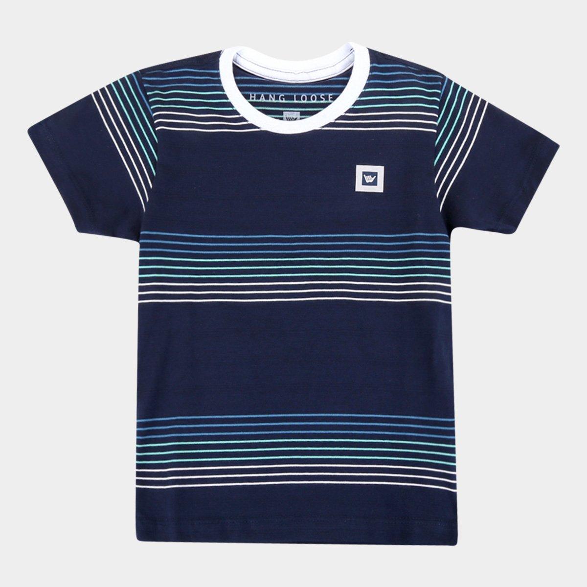 Camiseta Infantil Hang Loose Listrada Masculina