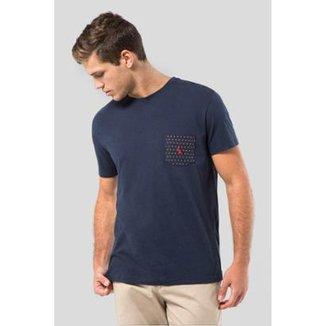 5377cdfa92129 Camiseta Malha Variada Bolso 577 Bordado Reserva Masculina