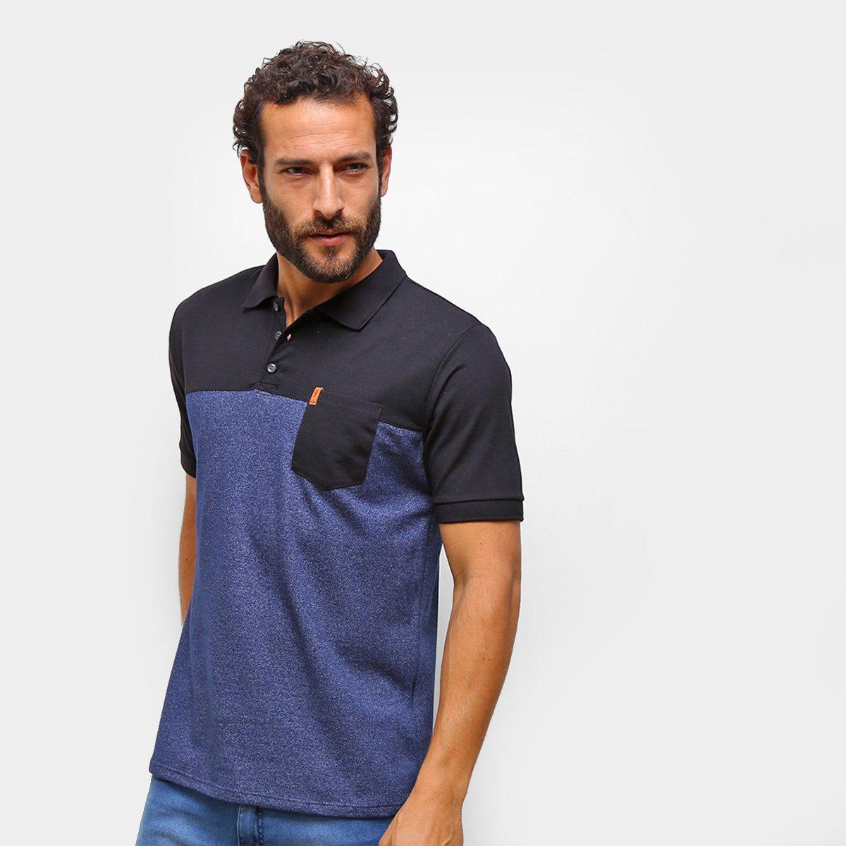 Camisa Polo HD C/ Bolso Masculina