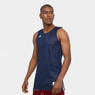 584174227d11d Camiseta Regata Adidas Treino Reversivel Masculina