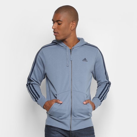 fa96280f849 Jaqueta Adidas Ess 3S Fz Ft Masculina - Compre Agora