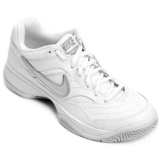 fcd3479a5c Tênis Nike Wmns Nike Court Lite Feminino - Branco e prata