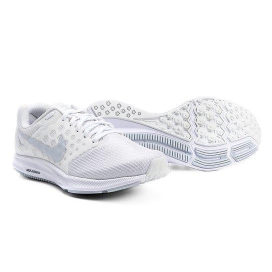 796015465c8 Tênis Nike Downshifter 7 Feminino - Branco e prata - Compre Agora ...