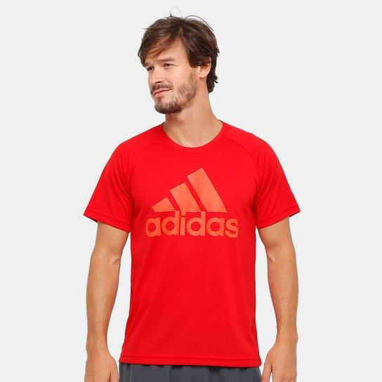 c47ddf9c8e1c9 Camiseta Adidas M2M Logo Masculina - Vermelho e Laranja - Compre ...