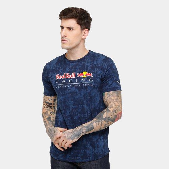 Camiseta Puma Red Bull Racing Allover Masculina - Compre Agora  0d79252518e