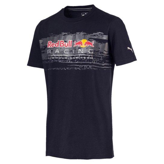 f54b173e44 Camiseta Puma Red Bull Racing Logo Tee Masculina - Marinho - Compre ...