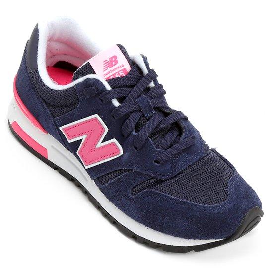 a256125dfc0 Tênis New Balance 565 - Marinho e Rosa Claro - Compre Agora