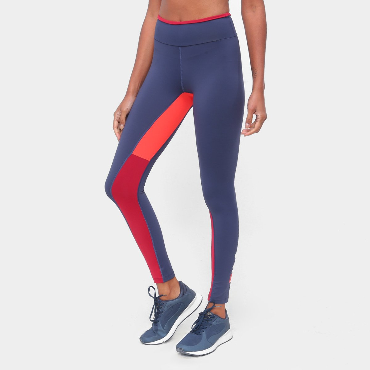 Calça Legging Fila Block Colors Feminina