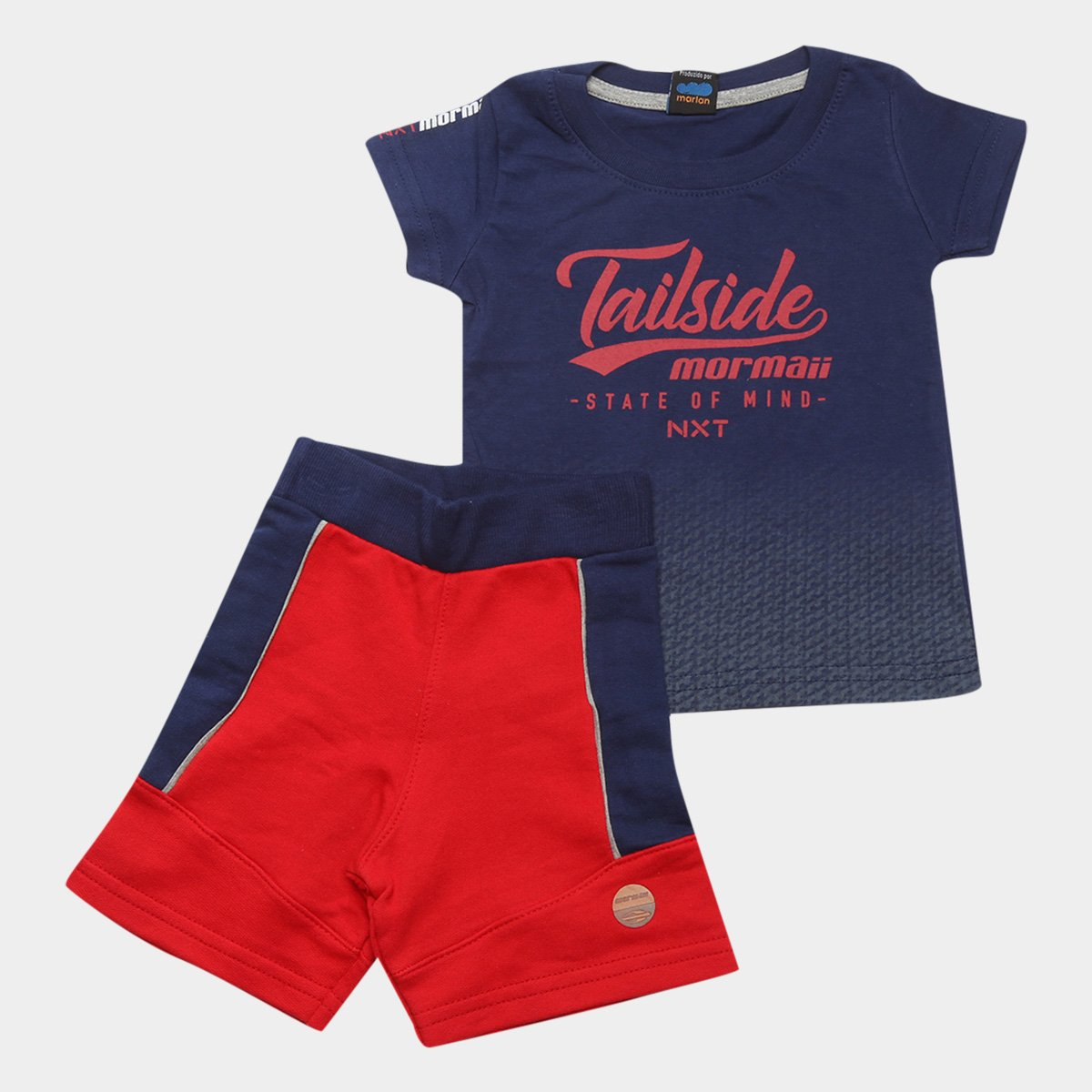 Conjunto Infantil Mormaii NXT Tailside Camiseta + Bermuda Masculino